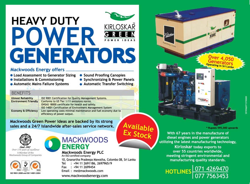 MACKWOODS ENERGY PLC - Provider Of a Wide Array Of Energy