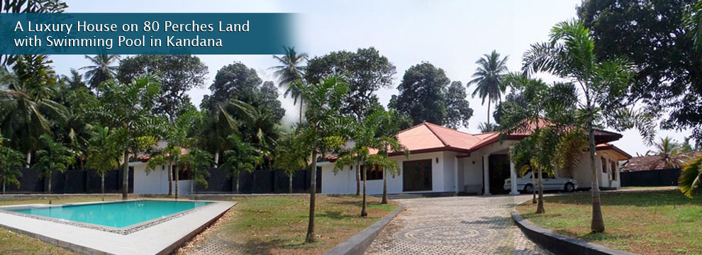 A Luxury House With 80 Perches Land With Swimming Pool In Kandana